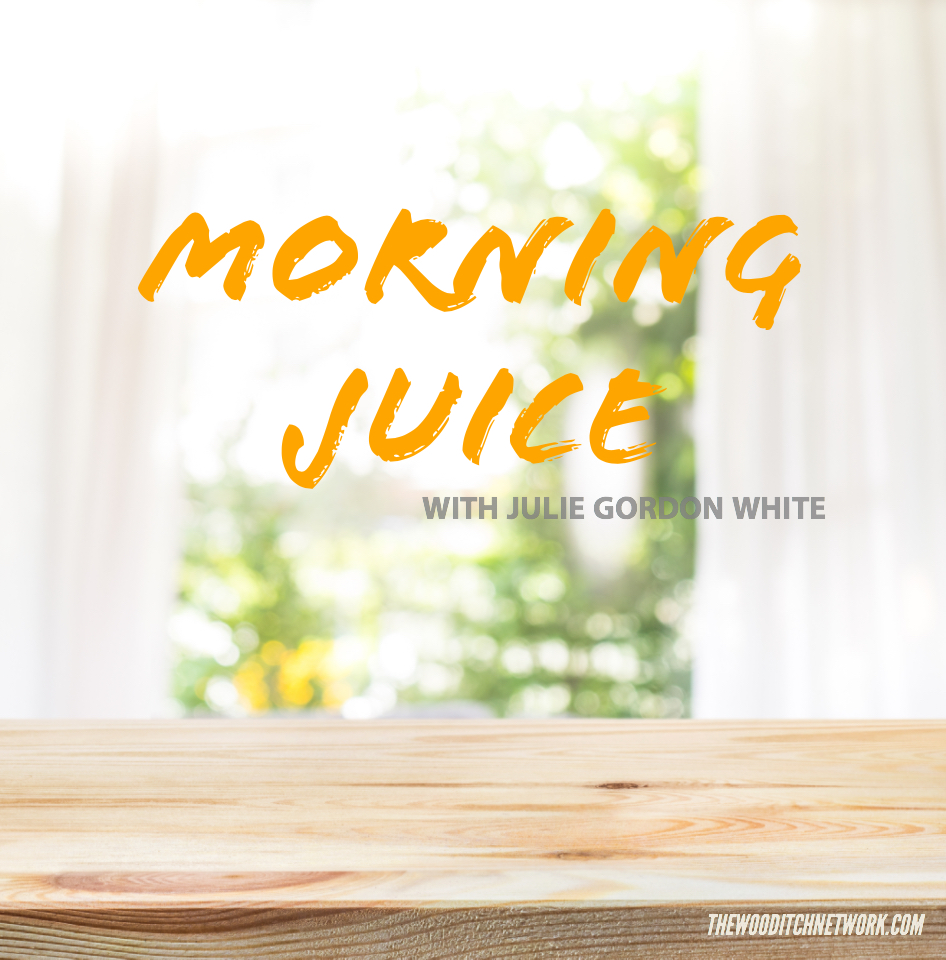 """Morning Juice!"" with Julie Gordon white"