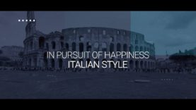 In PURSUIT OF HAPPINESS- Italian Style